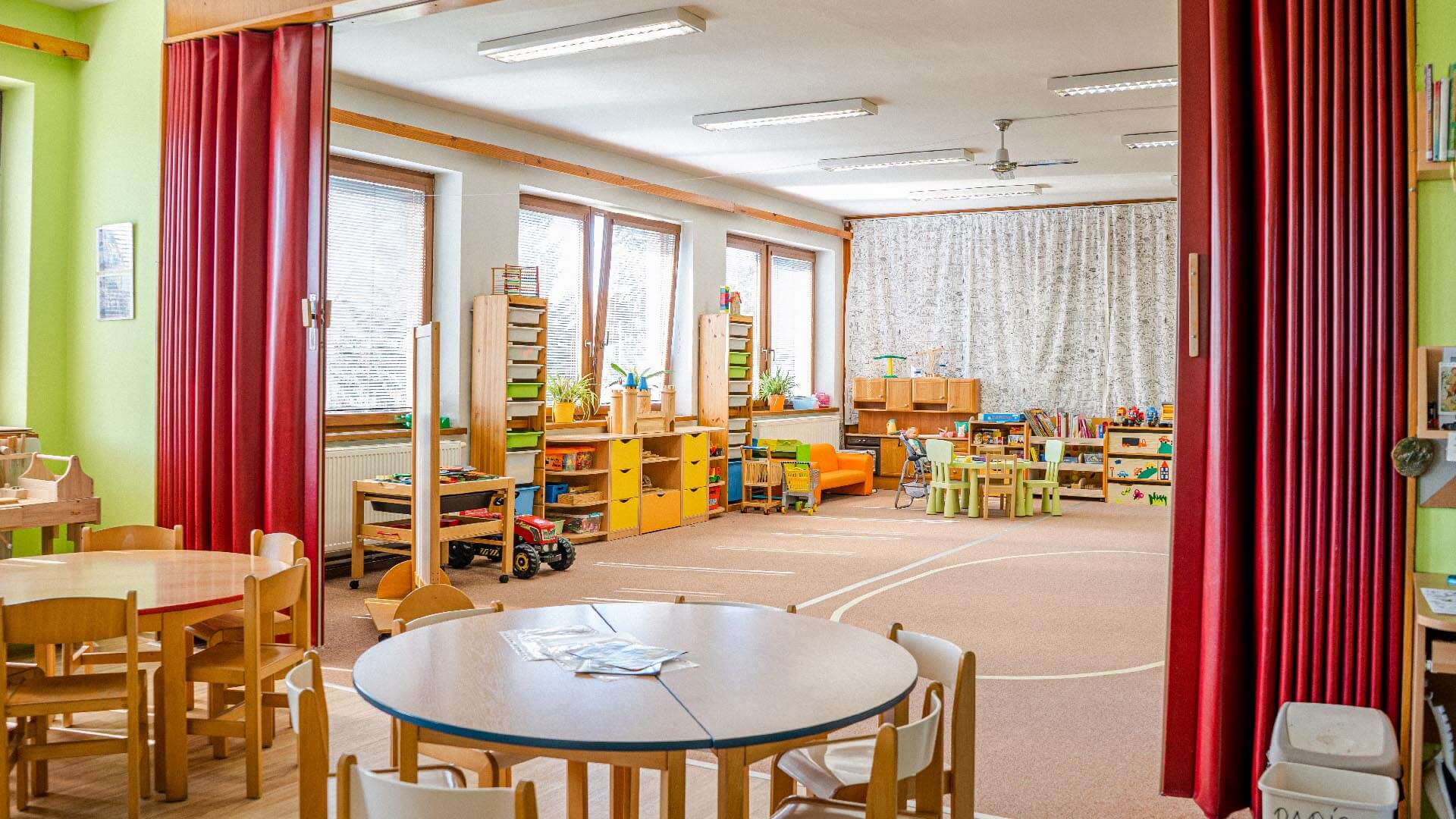 Interiér mateřské školky Cerekvice nad Loučnou